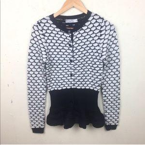 Christian Dior Peplum Button Down Wool Sweater 4